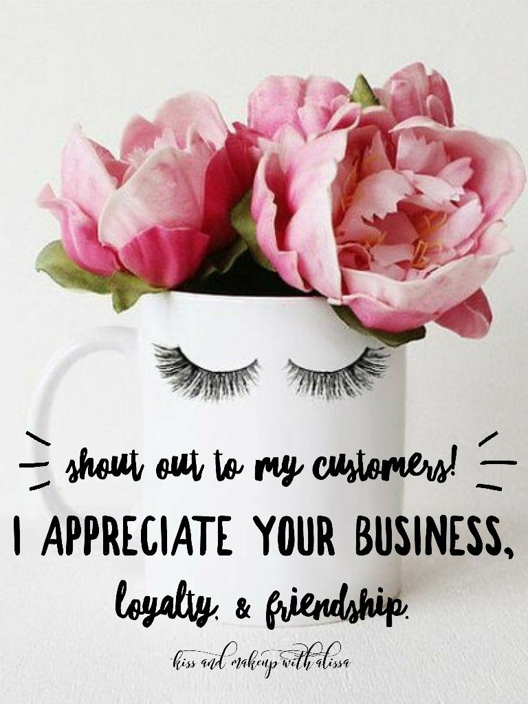 Thank you. Customer appreciation. Kiss And makeup with