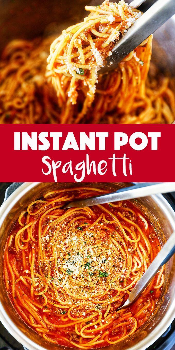 Instant Pot Spaghetti - an easy one-pot dinner idea!