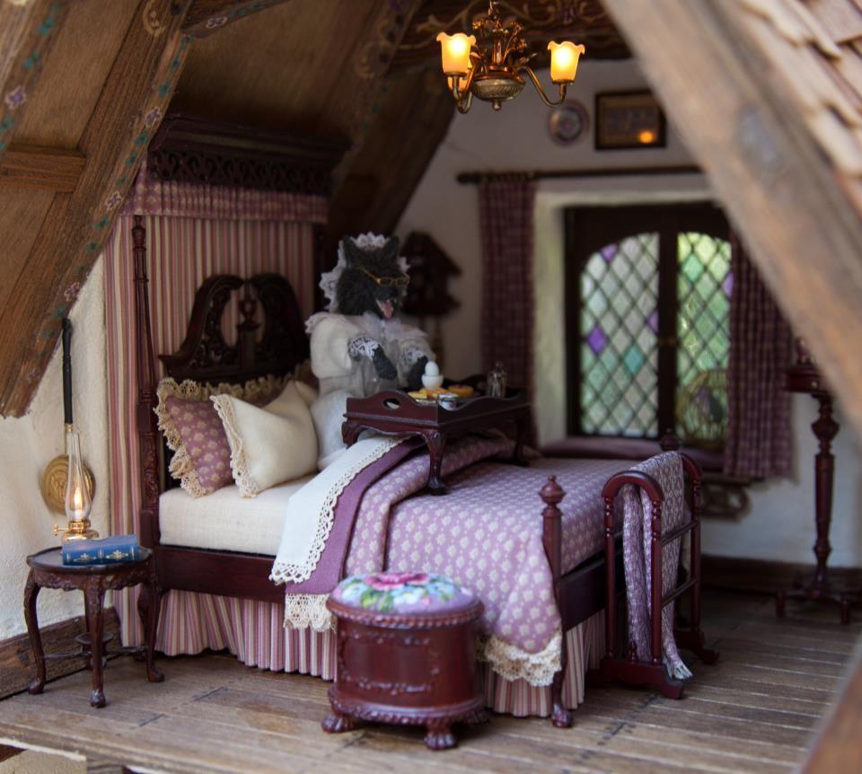 Dollhouse Miniature Roombox Sitting Room: 1000+ Images About El Dormitorio, En Miniatura, Bedroom