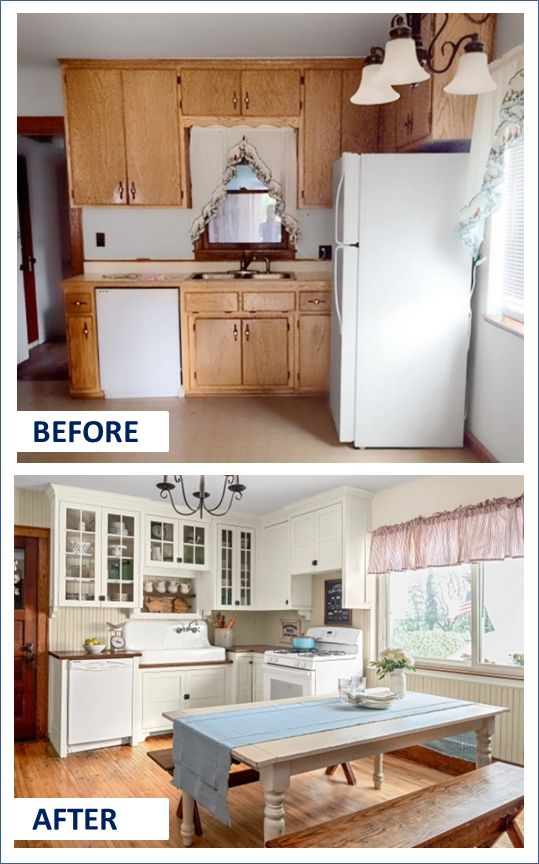 Before & After Farmhouse Kitchen Makeover