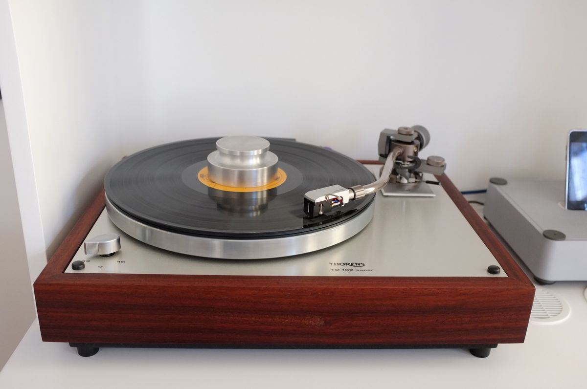 A nifty turntable that I've been playing with, the Thorens