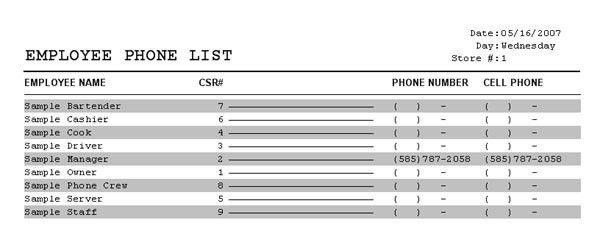 Phone List Templates Address And Phone List Office Templates - phone list templates