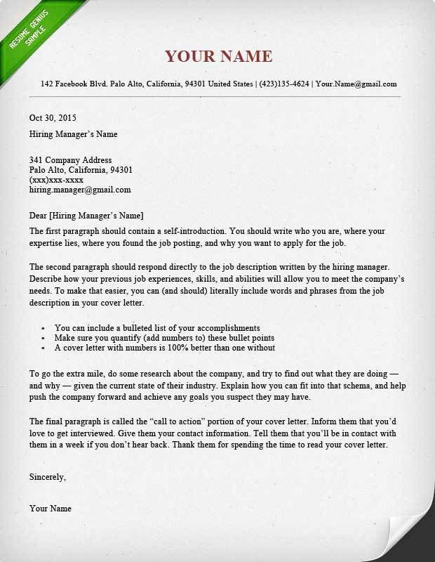 Cover Letter Set Out Quick Cover Letter Resume And Cover Letter - what does a cover letter contain
