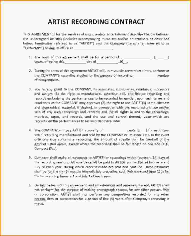 Barter Contract Template Sample Simple Barter Agreement Free - sample artist contract template
