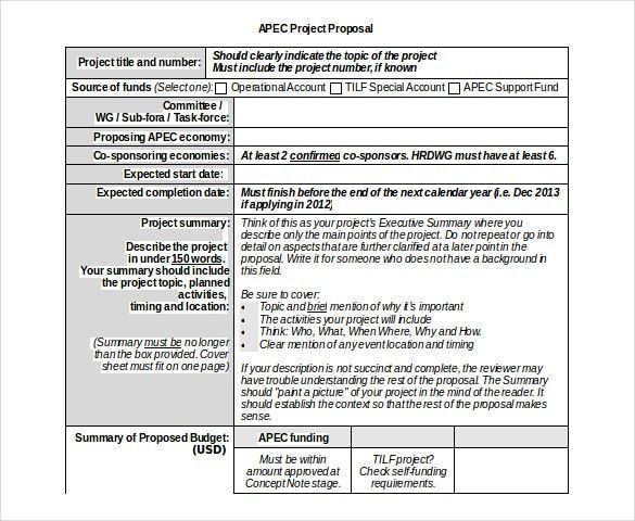 Word Project Proposal Template Project Proposal Template - funding proposal template