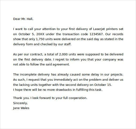 Complaint Letter Example 12 Complaint Letter Templates Free - business complaint letter format