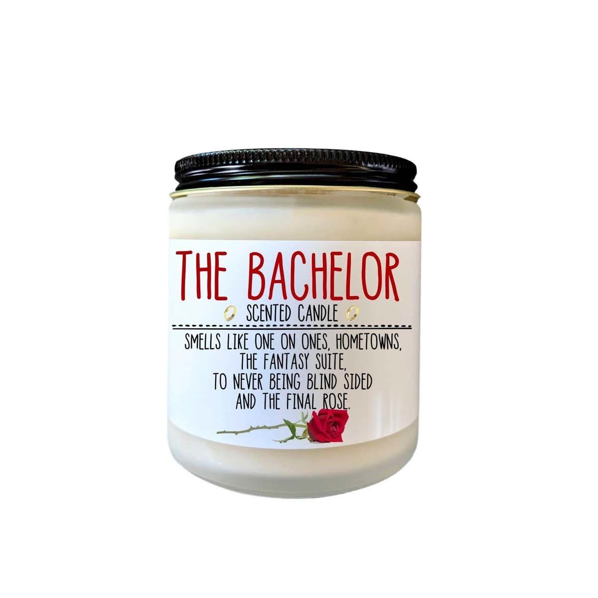 This 'The Bachelor' themed candle is the ultimate White Elephant gift