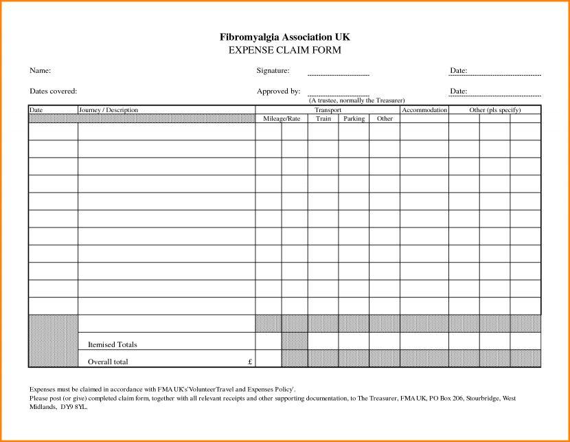 Expense Claim Template expenses claim template - eliolera - expense reimbursement form