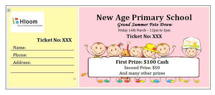 Sample Ticket Template Sample Raffle Ticket Templates Formal Word - movie ticket template for word
