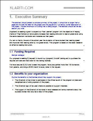 executive proposal template