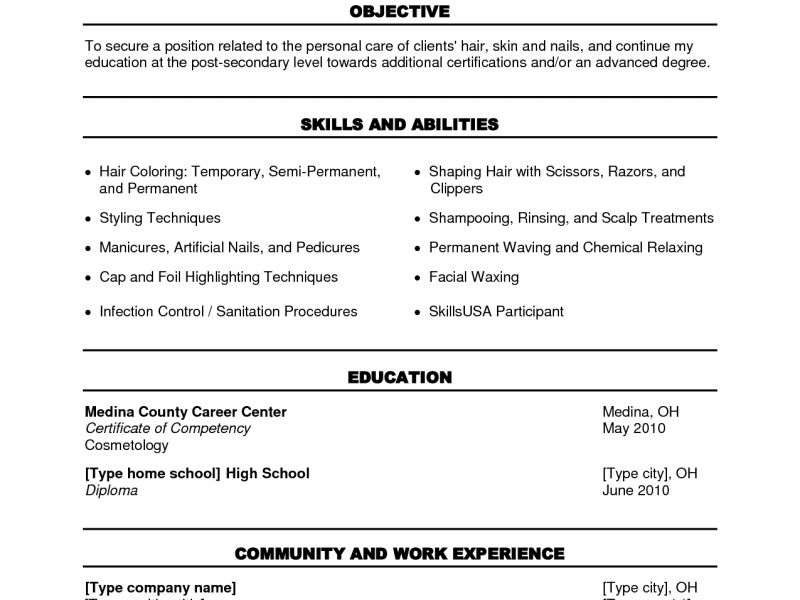 Resume Examples For Cosmetologist Cosmetology Resume - resume for cosmetologist