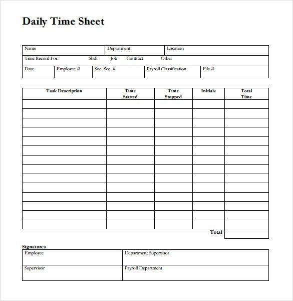 Timesheet Examples Free 12 Weekly Timesheet Templates Free Sample - printable employee time sheet