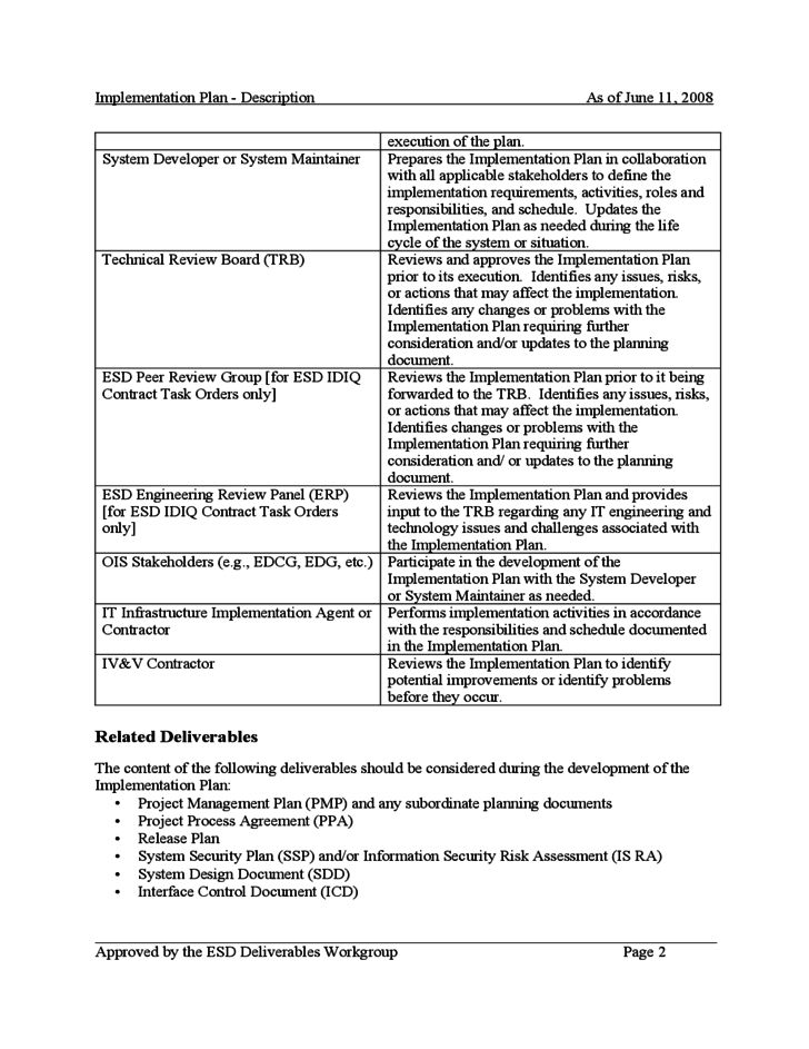 Process Implementation Plan Template - Eliolera - implementation plan template