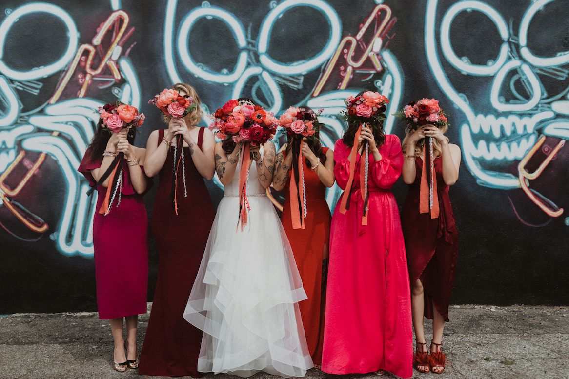 How to Nail the Mismatched Bridesmaids Look