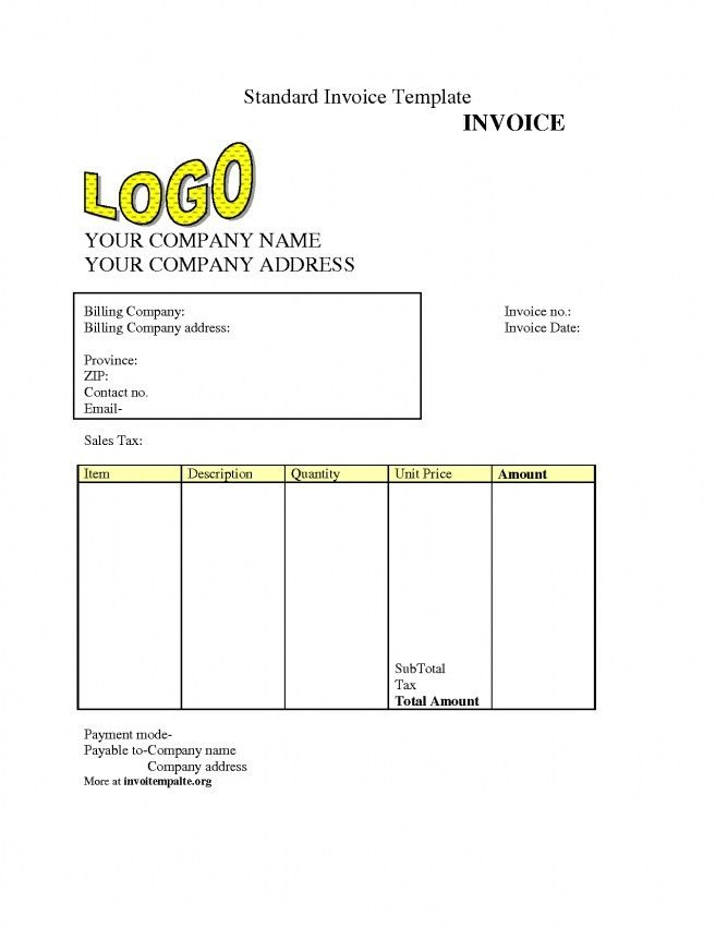 Free Invoice Templets Free Invoice Templates For Word Excel Open - generic invoice