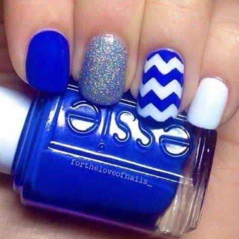 40 Beautiful blue Nail Art Designs – Reny styles