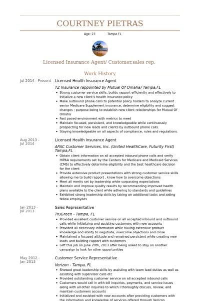 insurance resume example resume cv cover letter