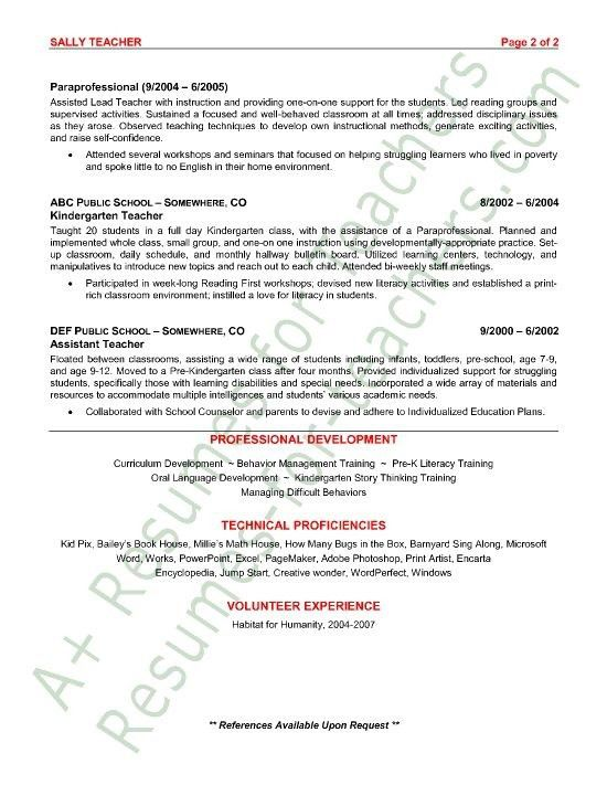 resume for daycare teacher resume examples for daycare teachers