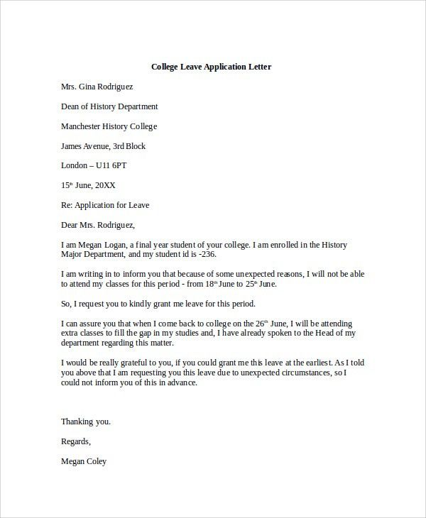 Doc#513656 College Application Letter u2013 College Application - college application letter