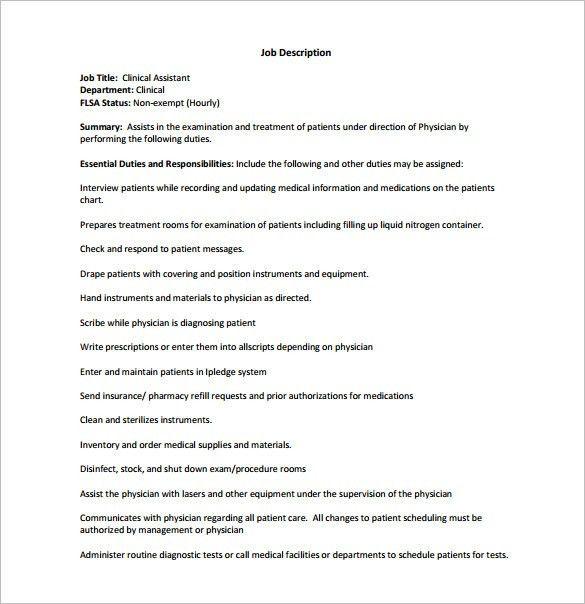 cardiology medical assistant job description - Intoanysearch - Physician Job Description