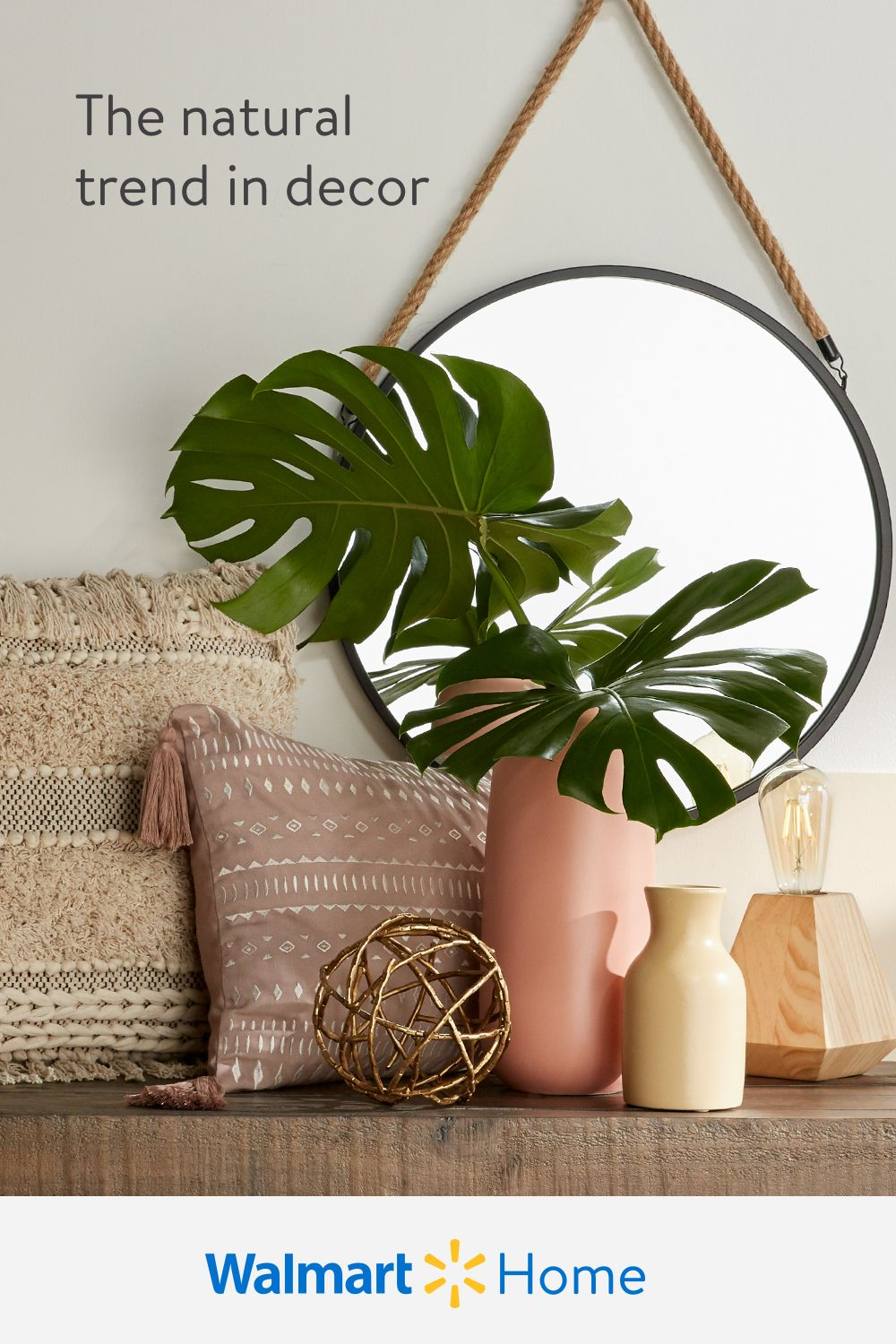 Enliven every room with decor inspired by natural textures, tones, & materials. Shop Walmart for affordable planters, rugs, textiles, & more for spaces with down-to-earth style.