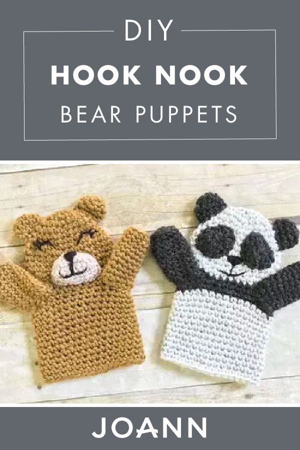 Spark a little creativity with your little one, by making a craft that's as fun and cute as they are! Click here to learn how to make these DIY Hook Nook Bear Puppets from JOANN, and create your own at-home puppet show.