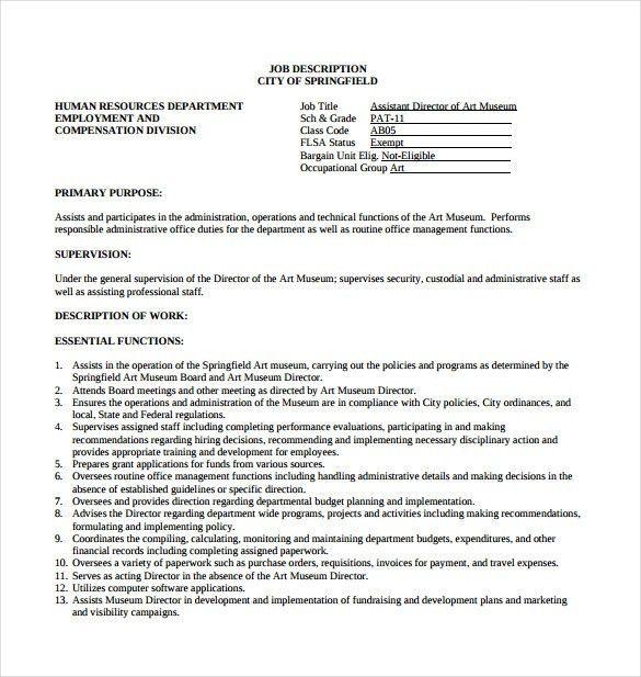 art director job description lovinglyy - hr director job description