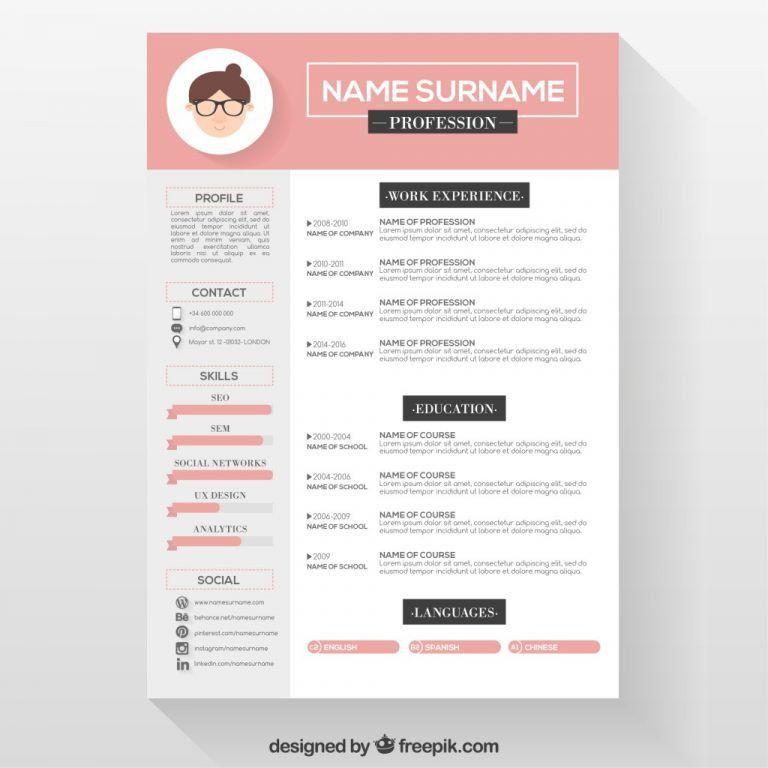 Pretty Resume Template 49 Creative Resume Templates Unique Non - iwork resume templates