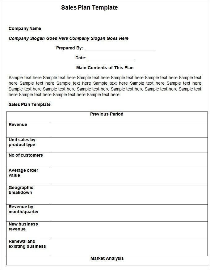 Sales Templates Free Free Sales Plan Templates Smartsheet - sales plan sample