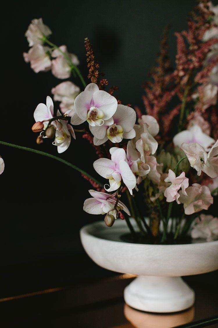 A Pastel Hued Modern Flower Arrangement for Valentine's Day   DIY