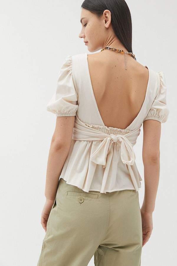 UO Darjeeling Open-Back Top