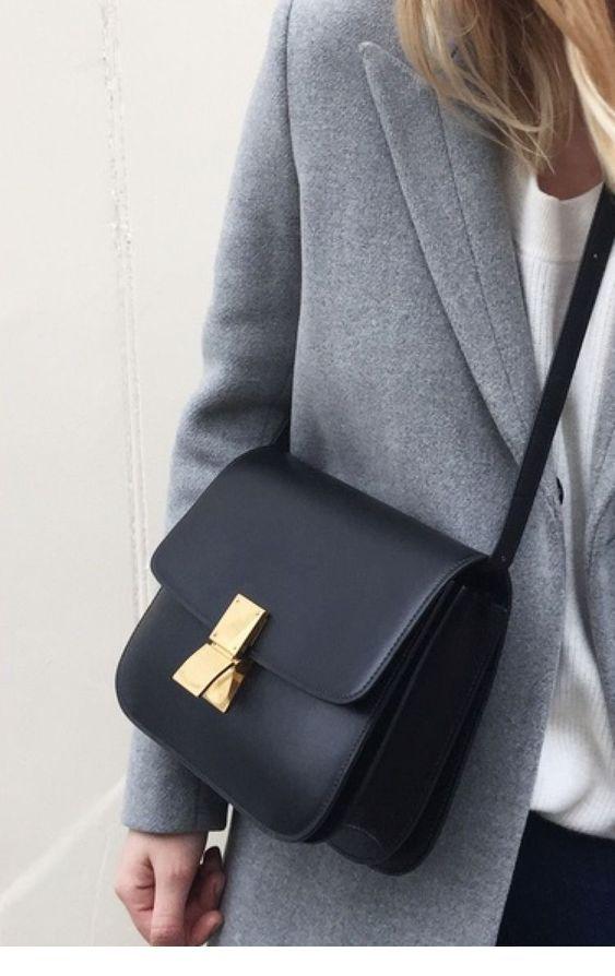 I like this black minimalist bag
