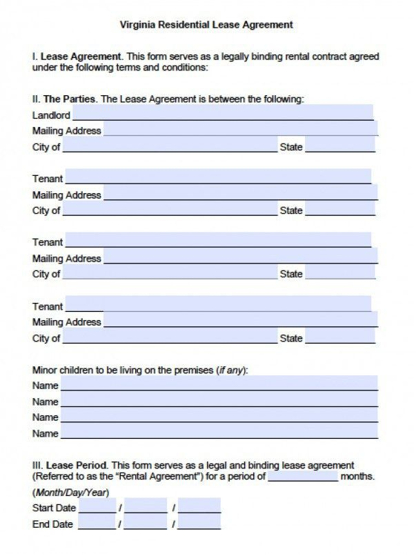 Free Printable Rental Agreement Form Free Rental Forms To Print - lease extension agreement template