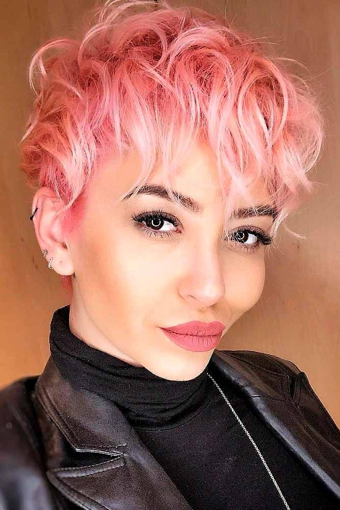 Edgy And Messy Pixie #pinkhair #messyhairstyles ★  A long pixie cut is something that every woman should try in her life! Here, we are sharing the latest ideas of pulling off the trend. Edgy asymmetrical variations, ideas with undercut and bangs, and messy curly looks for blonde and brunette girls are waiting for you. #glaminati #lifestyle #longpixiecut