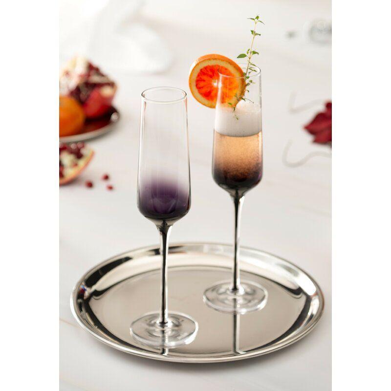 Black Swan Champagne 7 oz. Crystal Flute