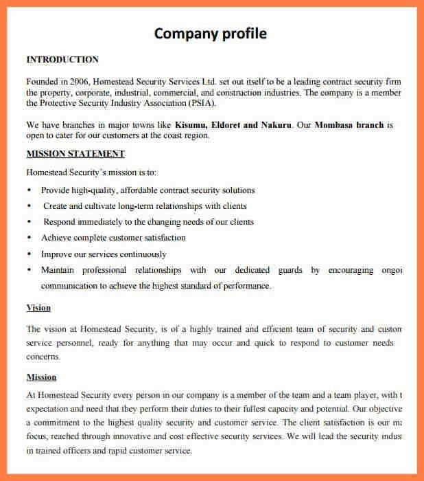 Small Business Profile Template Business Profile Template Free - business profile template