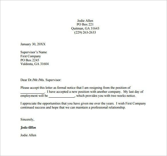 Retraction letter from ray cress to thurman arnold and elder tom - writing internship resignation letter
