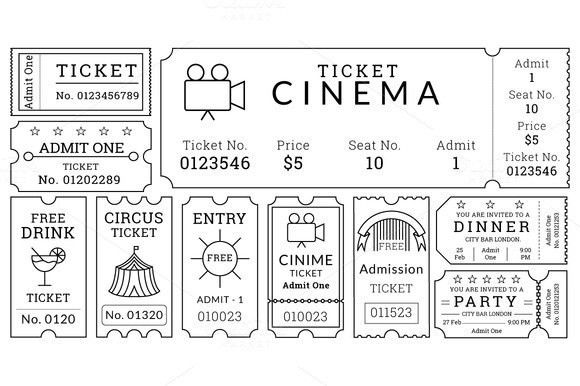 Tickets Templates Event Ticket Templates Make Your Own Printable - create your own movie ticket