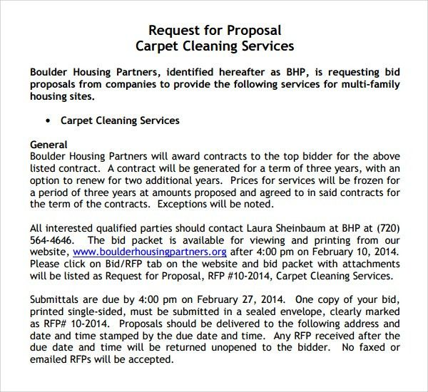 Contract Proposal Template Free Sample Contractor Proposal 7 - sample proposal contract