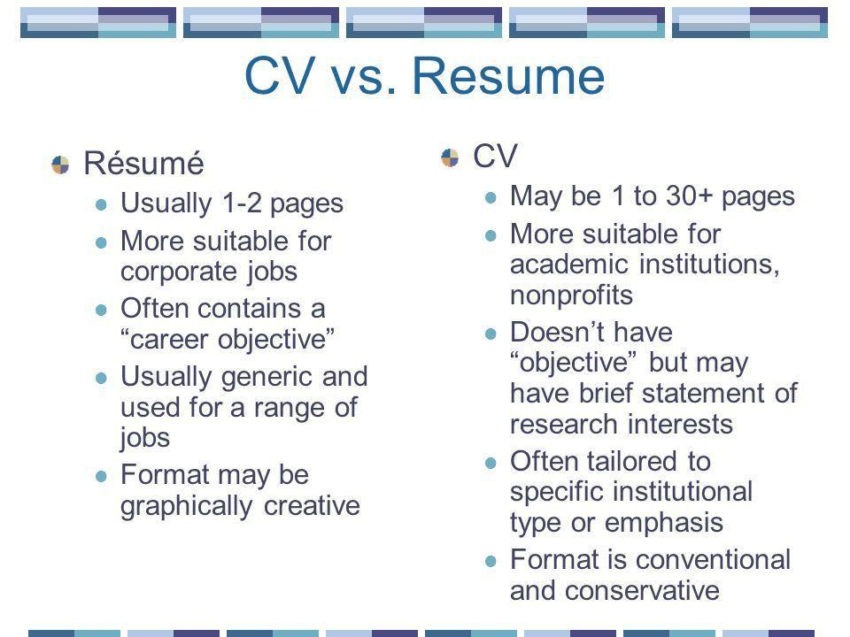 cv vs resume example