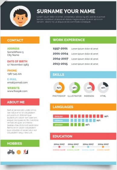 Free Creative Resume Templates 40 Best Free Resume Templates 2017 - visual resume templates