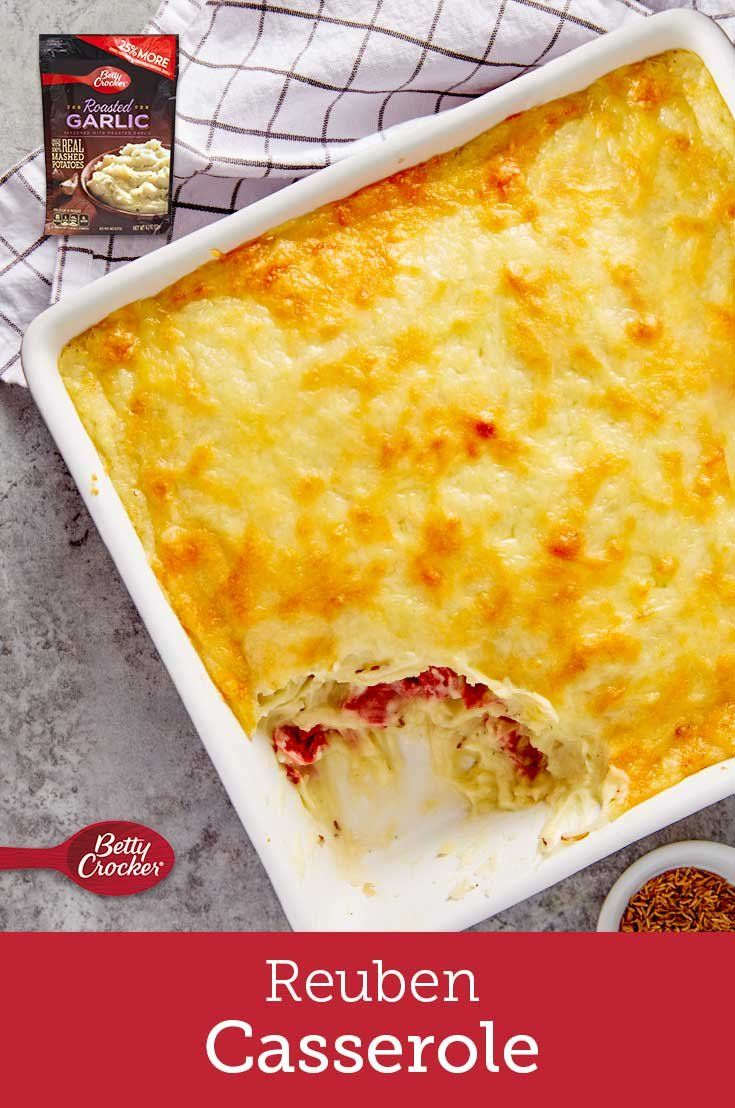 All the flavors of a classic reuben come together in a potato- and cheese-packed casserole. Swiss, caraway, corned beef and sauerkraut taste incredible together, no matter what form they take.