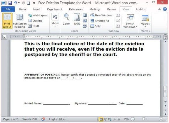 How To Make A Eviction Notice Sample Eviction Notice Template 37 - free eviction template