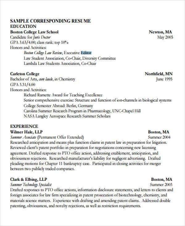 law student resume