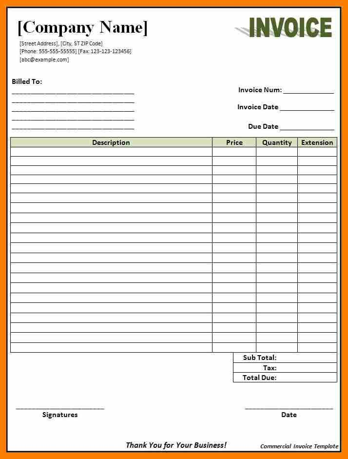 Sample Of Invoice Form Free Invoice Template For Excel, Free - daycare invoice template