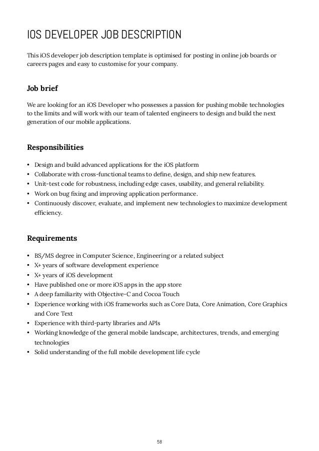 sample web developer job description 8 examples in pdf word - software developer job description