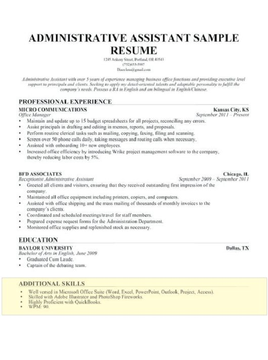 Skills Resume Examples How To Write A Resume Skills Section - additional skills on resume