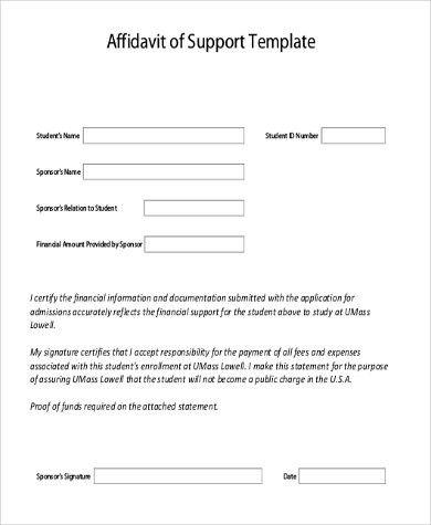 Affidavit Of Truth Template Affidavit Of Truth Template In Word - affidavit of support
