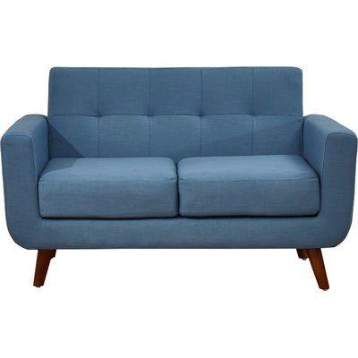 Langley Street Rumsey Loveseat Upholstery: Payne's Grey