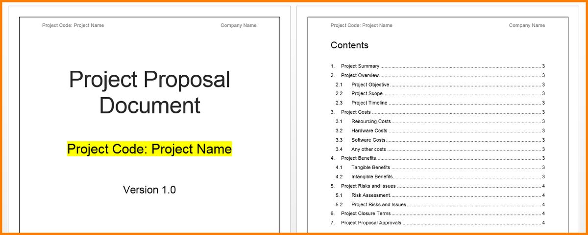 Word Project Proposal Template Project Proposal Template - proposal template in word